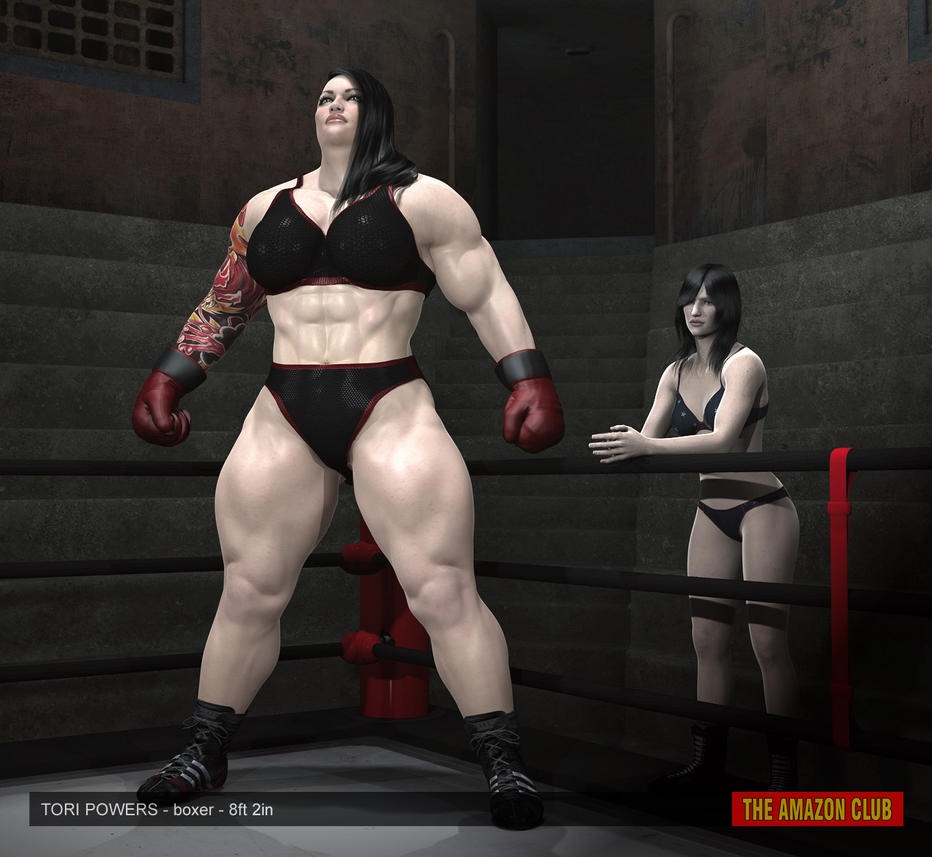Tori Powers - amazon female boxer - 8ft 2in by theamazonclub