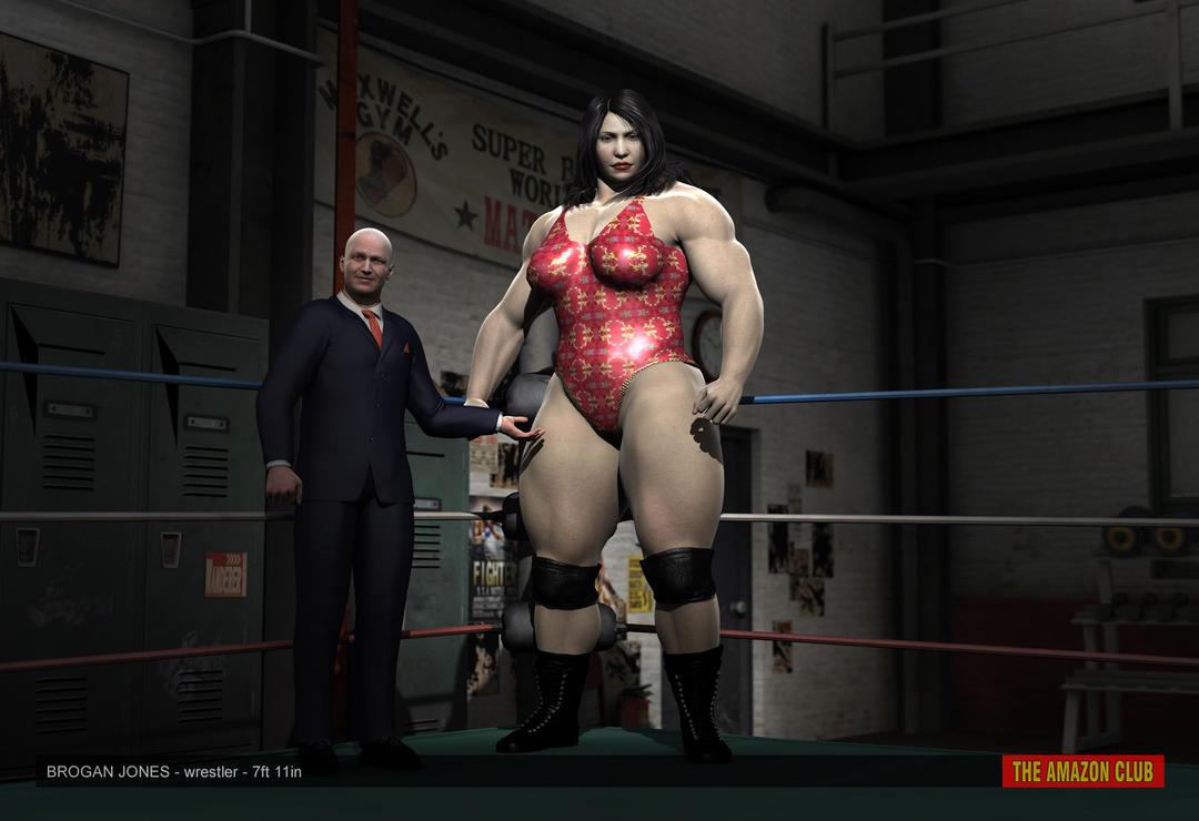 Brogan Jones - female pro wrestler - 7ft 11in by theamazonclub