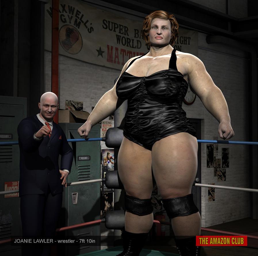 Joanie Lawler - veteran wrestler - 7ft 10in by theamazonclub