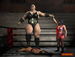 Lucia The Beast - fighter - 8ft 4in - victory pose by theamazonclub
