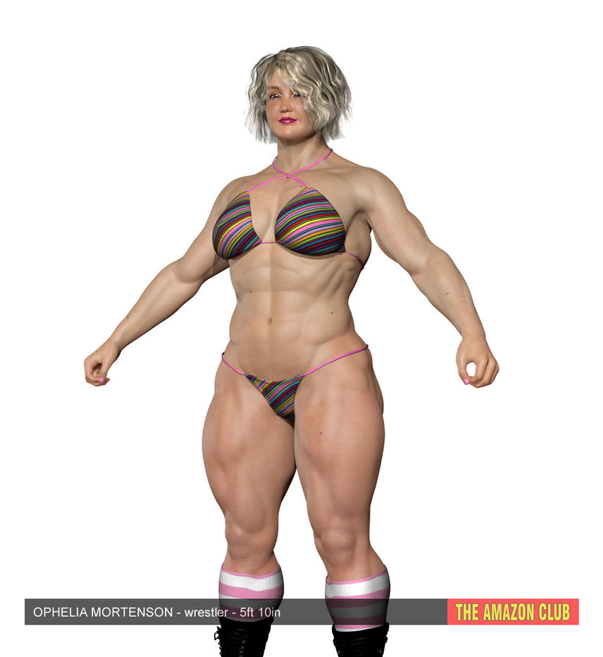 Ophelia Mortenson - female wrestler - 5ft 10in by theamazonclub