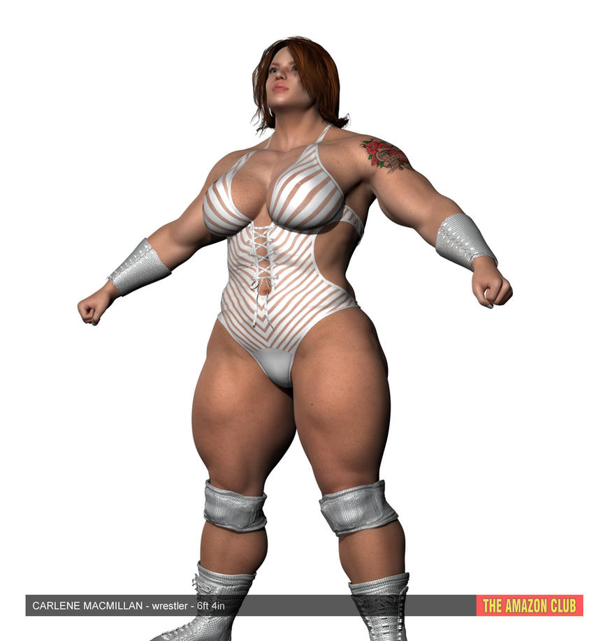 Carlene Macmillan  - female wrestler - 6ft 4in by theamazonclub