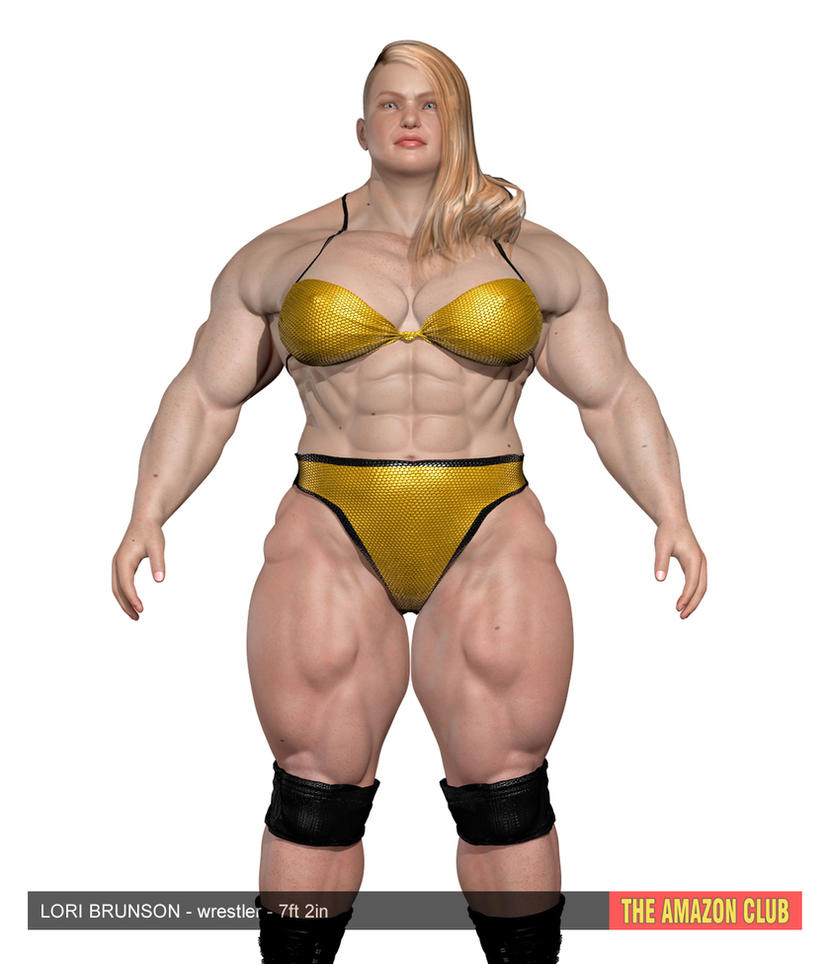 Wanna wrestle? Lori Brunson - 7ft 2in by theamazonclub