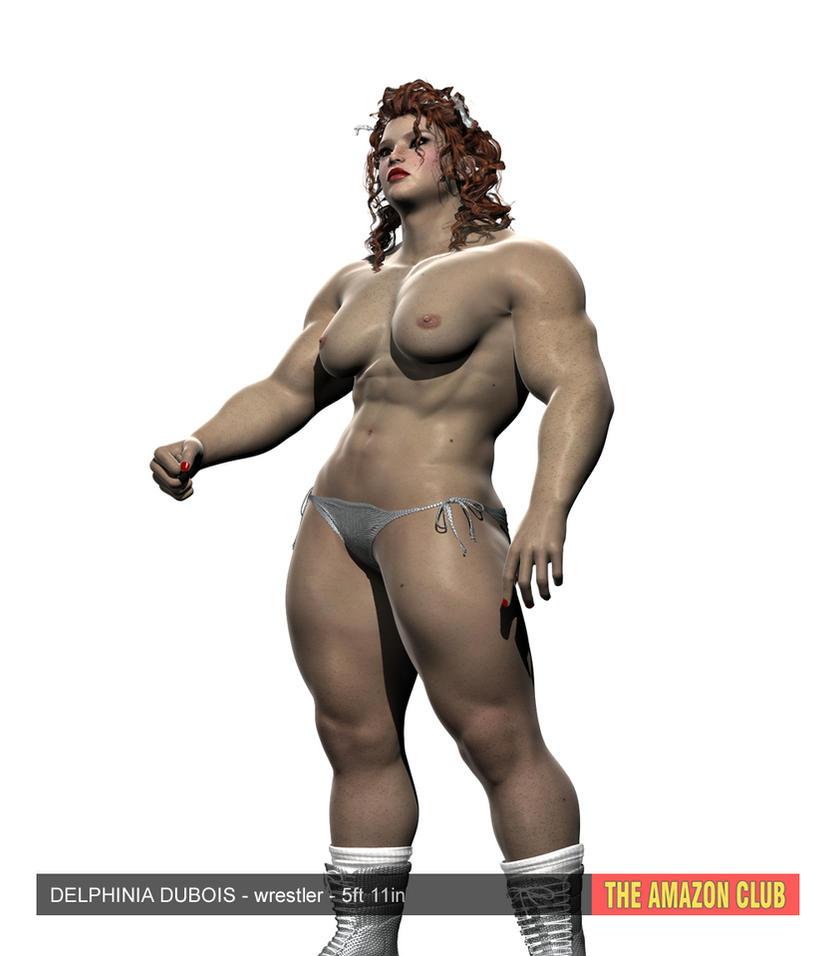 Delphinia Dubois - woman wrestler - 5ft 11in by theamazonclub