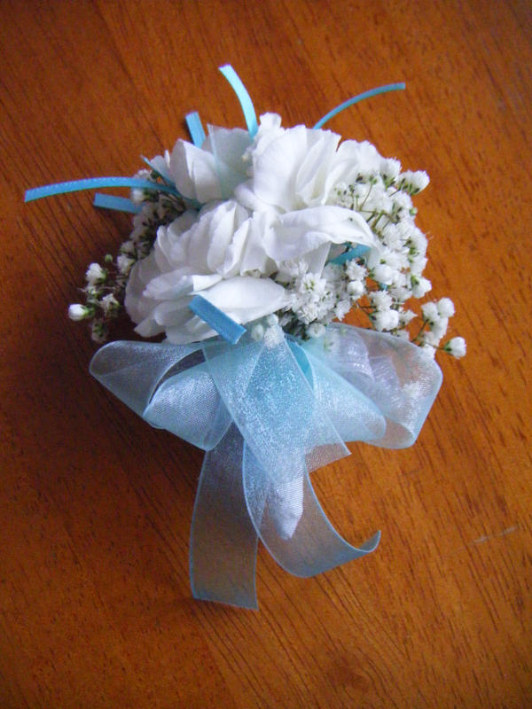 Charming Light Blue Carnation Corsage By Eatsoupwithsticks ... Pictures