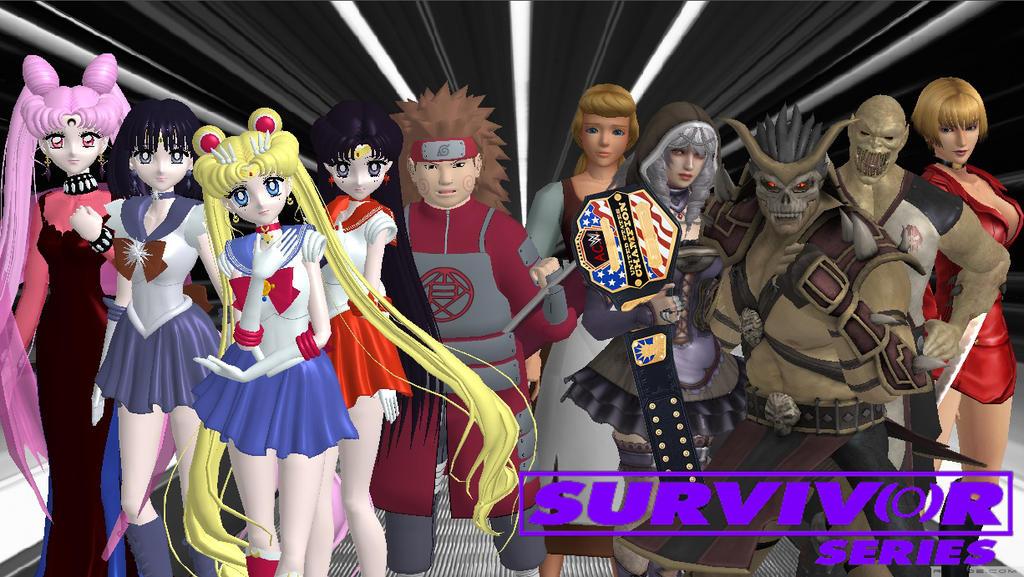 Survivor Series 2016 - Team Usagi vs Team ShaoKahn by JoeyTribbiani125