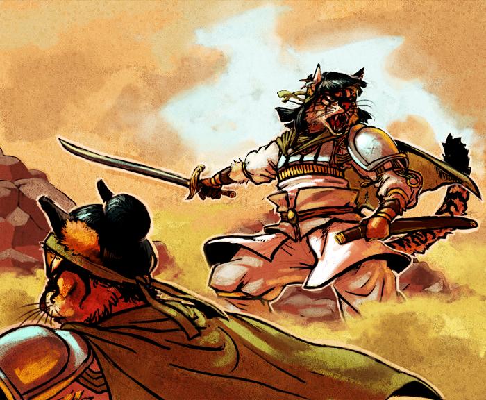 Etamnak Into Battle by Kylogram