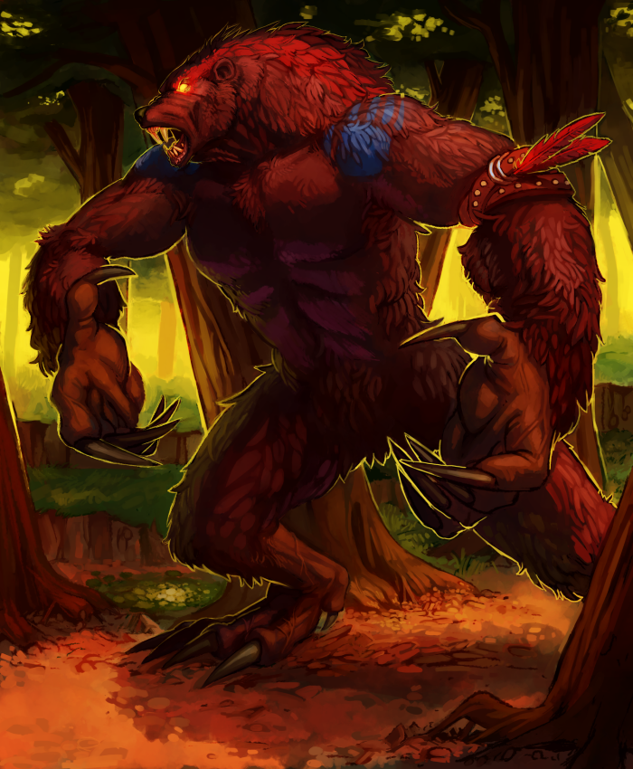 Full Painting - Werebear by Kylogram