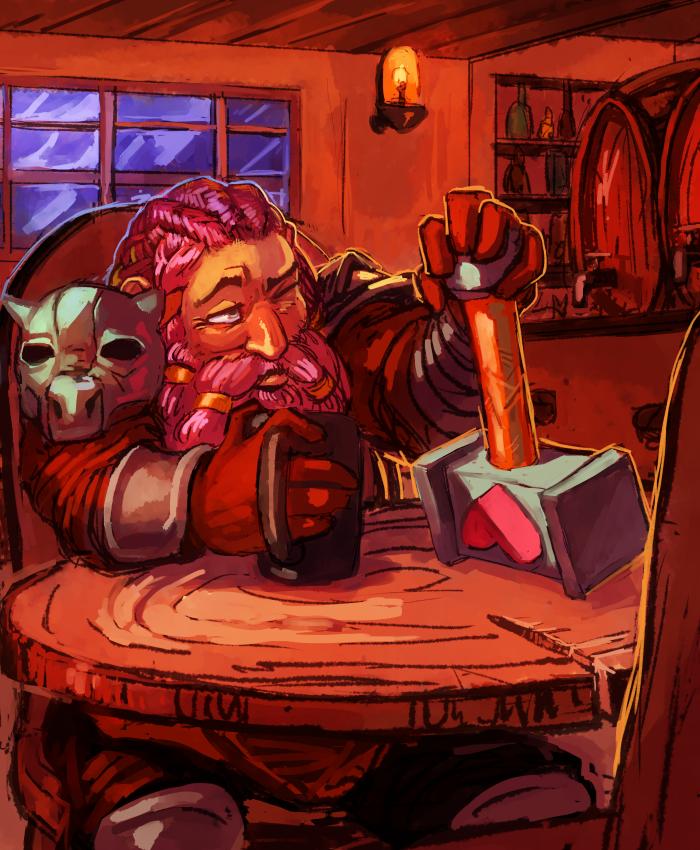 Speedpaint - Dwarf Bard by Kylogram