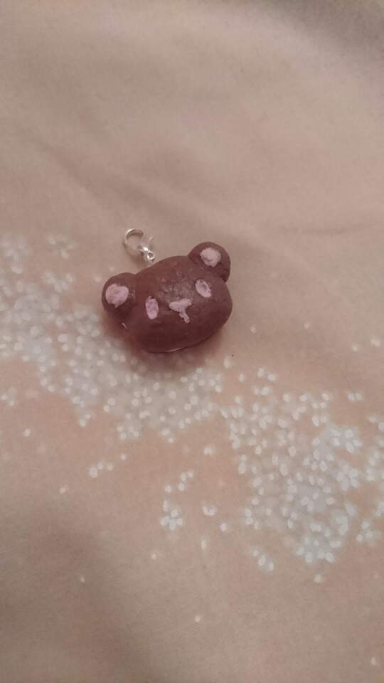 Cute Biscuit Bear Key-chain. Clay Charm. by shannon77