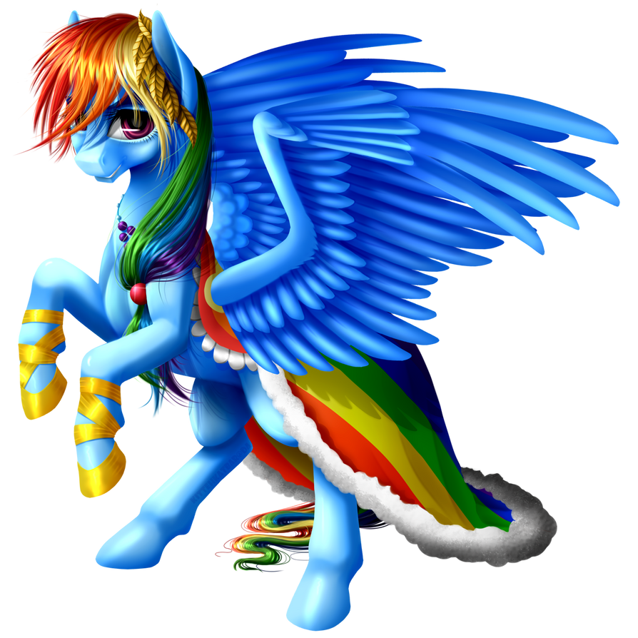 Gala Rainbow Dash by KittehKatBar