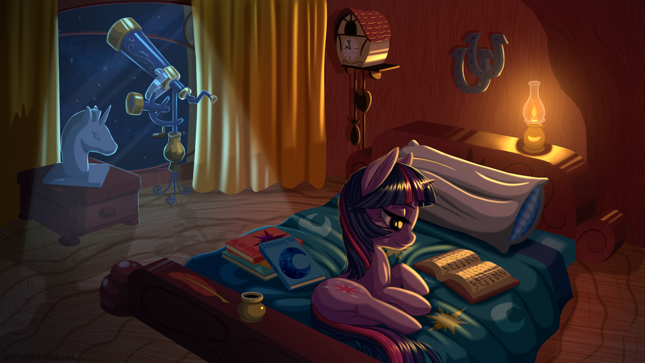 Burning the Midnight Oil by KittehKatBar