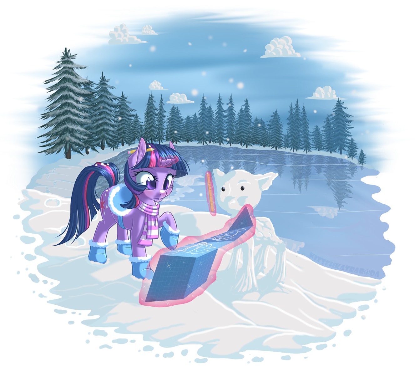 Snowflake Surprise by KittehKatBar