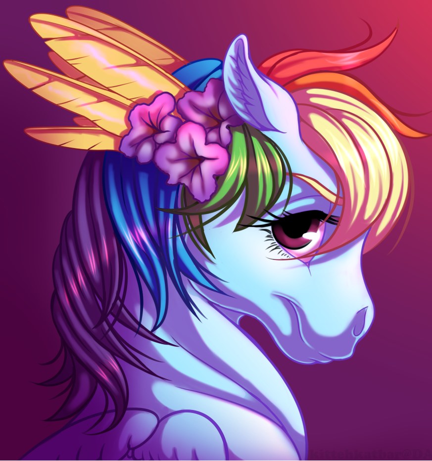Rainbow Portrait by KittehKatBar