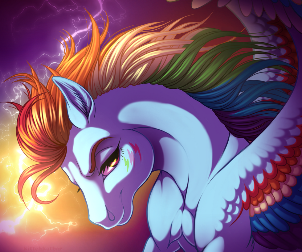 Rainbow Power Dash by KittehKatBar