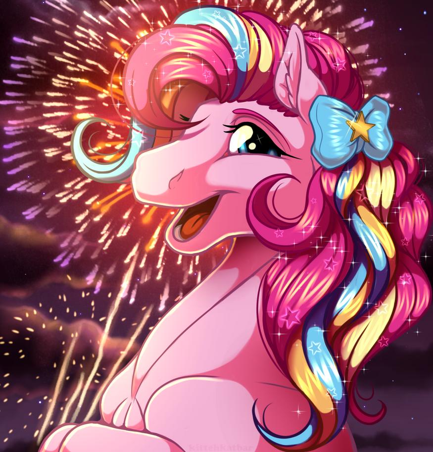 Rainbow Power Pinkie Pie by KittehKatBar