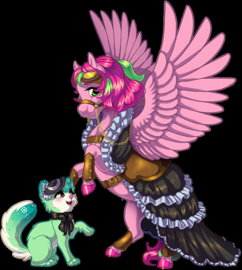 Commission: Steampunk by KittehKatBar