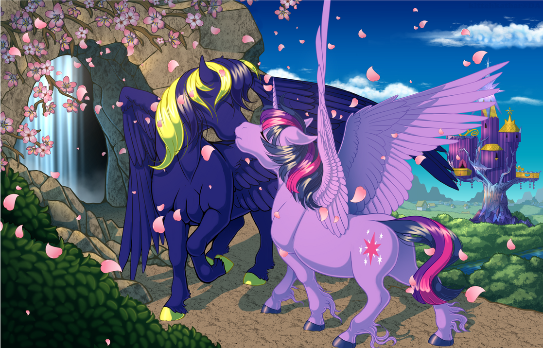 Commission: Cherry Blossoms by KittehKatBar