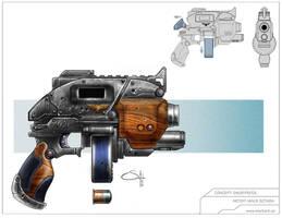 Snub Pistol by MackSztaba