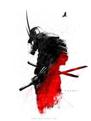 Red Samurai by MackSztaba