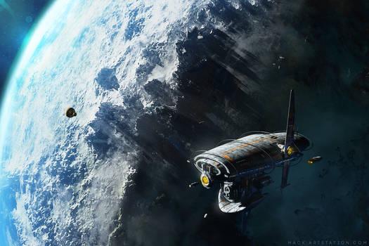 Berkey Station in high orbit.
