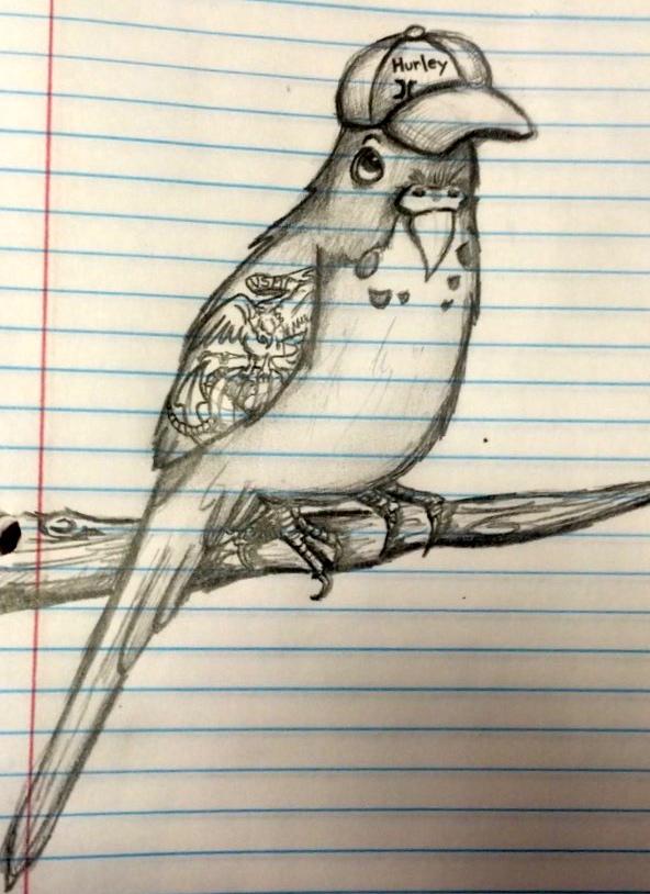 Richard the Parakeet by moonlightbunny5