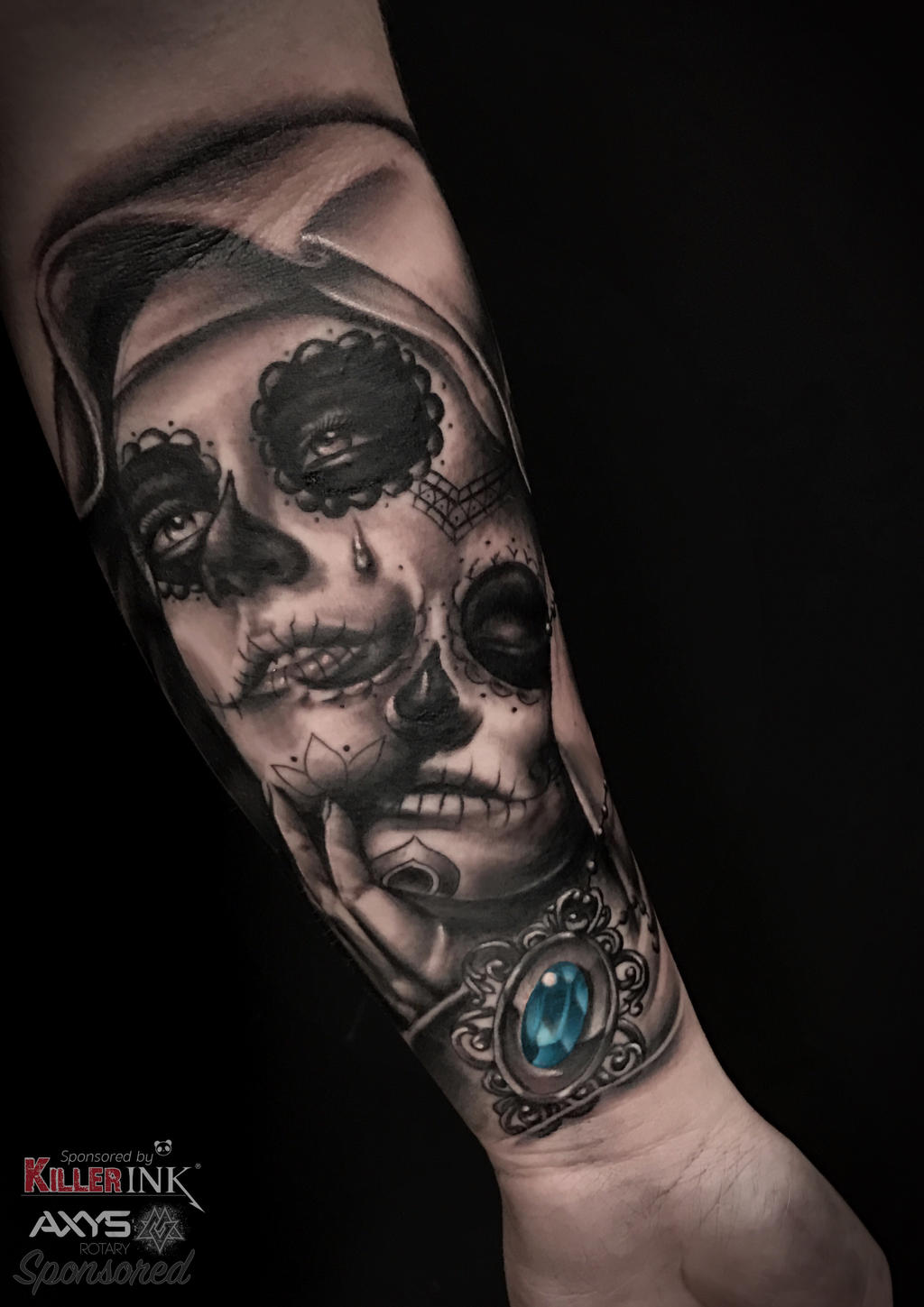 Dia De Los Muertos Tattoo By Nick Limpens By Nsanenl On