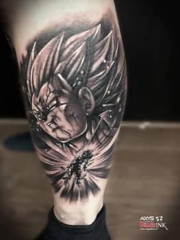 Majin vegeta dbz tattoo by nick limpens royal ink