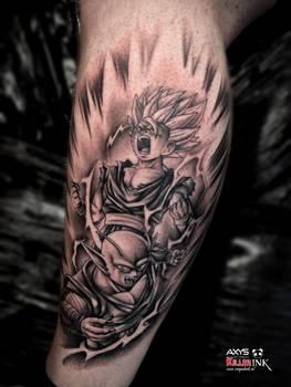 Ssj2 gohan and piccolo vs cell tattoo