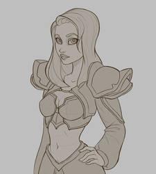 Jaina Sketch by Mateussm