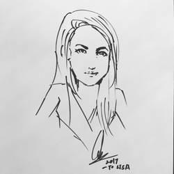 Sketch of Lisa Doan by Cglas