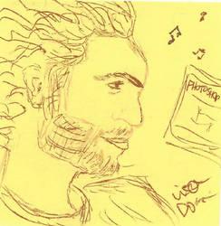 Post It Portrait - Stefan