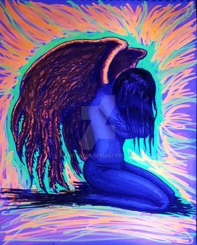 angel hug black light