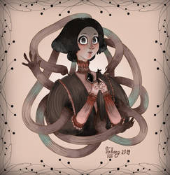 Very unusual girl with unusually large eyes by VALBORGRUN