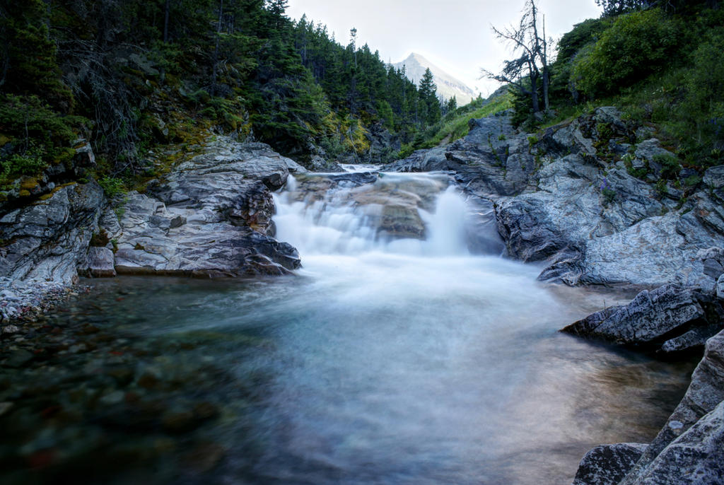 Waterton Stream HDR by c09567812