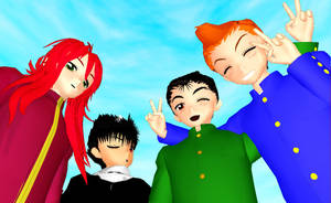MMD YYH Boys Newcomers by TheFrilliestLoser