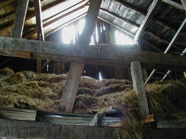 Interior, old barn by Lectrichead
