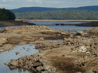 Drained Stillwater Reservoir by Lectrichead