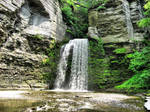 Waterfall HDR, Ithaca area by Lectrichead