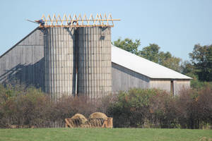 Amish Building Silo Roof (5)