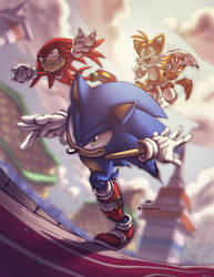 Sonic Heroes Colored