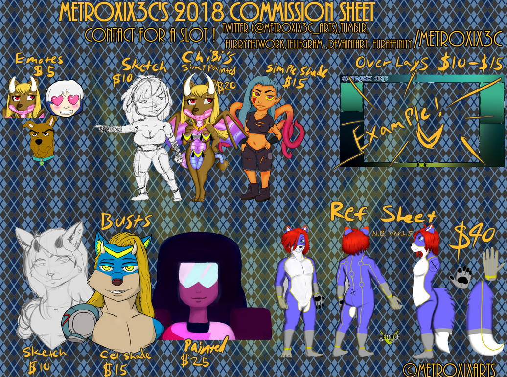 Commission Sheet 2018