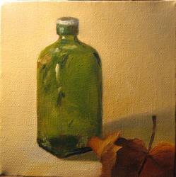 Green Bottle and Leaf by Shehaub
