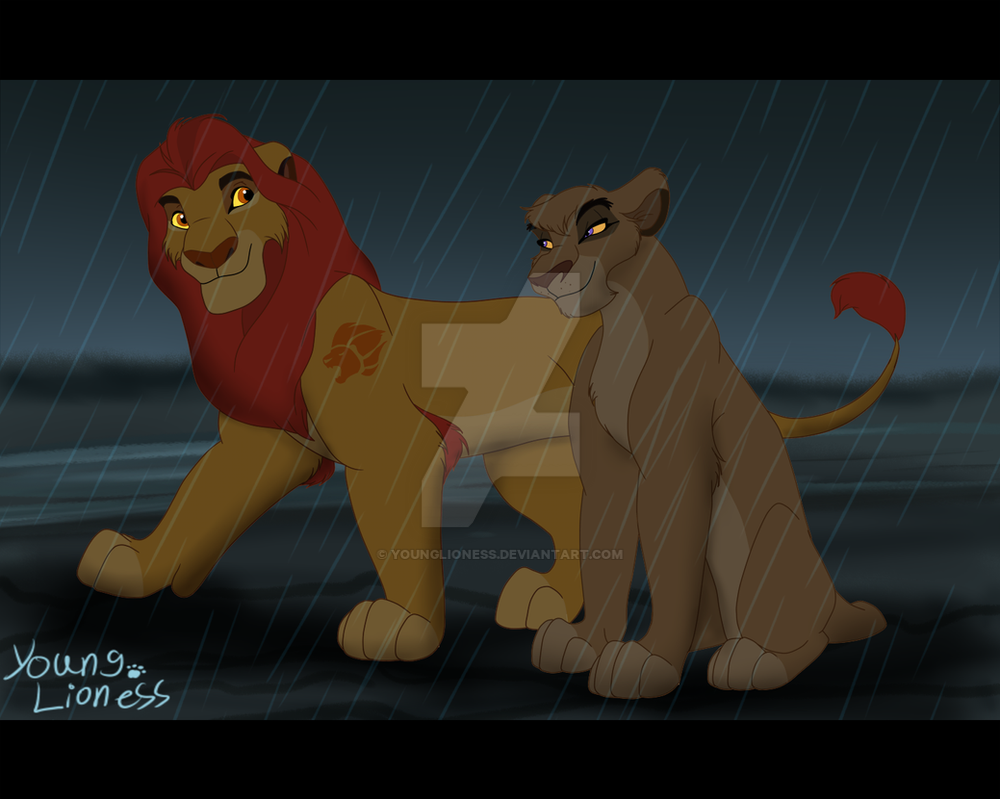 Vitani, ¿posible pareja de Kion? [Debate] The_guard_and_the_warrior_by_younglioness-d9lt5uq