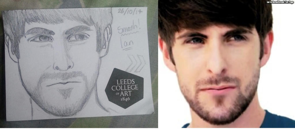 My attempt at drawing Ian Hecox by FirePrincess97