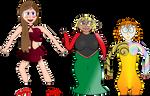 My three pageant ladies by Slime-Series