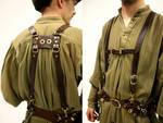 Leather Belt Suspenders