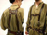 Leather Belt Suspenders
