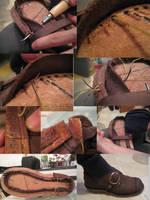 shoe progress 3 by Marcusstratus