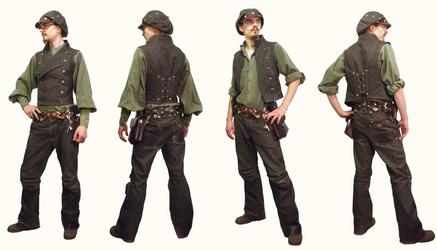 Denim Suit by Marcusstratus